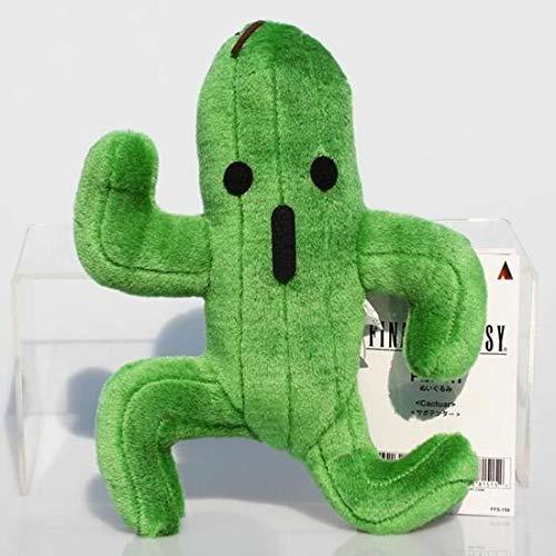 Qsoleil Küchenwerkzeug 24cm Fantasie Kaktus Cactuar Plüsch grüne Pflanze Plüsch weiche Puppen Baby Spielzeug (Farbe : As Shown, Größe : 24cm)