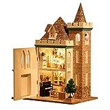 DIY miniatuur poppenhuis kit, houten miniatuur poppenhuis muziek speelgoed model kits om te bouwen met stofzakken-keuken speelset-handgemaakte miniatuur huis