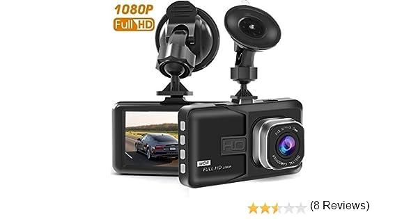 KU09 Dash Cam visione notturna registrazione in loop Dash Camera per auto con Full HD 1080P 170 gradi super grandangolare G-Sensor schermo TFT da 3 WDR