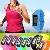 #3: Digital LCD Pedometer Run Step Calorie Compass Multifunction Calorie Counter Bracelet Sport Smart Wrist Watch (PINK)