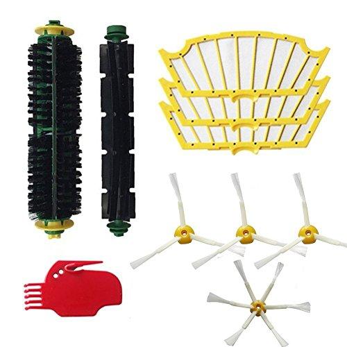 aMoy Kit de cepillos y filtros Compatible iRobot Roomba 500 Serie 530 521 555 560 Robot aspiradora Repuestos. Filtro, Cepillo Lateral, Rodillo Central y Accesorios. Económico. Calidad Garantizada.