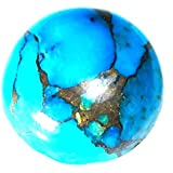 Urancia® Copper Blue Firoza Gemstone Turquoise Persian Blue STONE Blue Copper Mojave Turquoise Bisbee Turquoise American Turquoise Spider-web Matrix Blue Copper Turquoise Persian Turquoise Stones TURQUOISE Blue Copper Turquoize Turkish Turquoise 8.2Ct