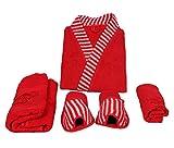 Koyoka Red Women Bathrobe (4 Pcs)