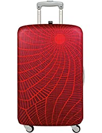 LOQI Suitcase Cover Medium Elements Fire: Größe medium: 58 - 65cm, 85% Polyester and 15% Spandex, material strength 310 GSM, water-resistant, washable, OEKO-TEX certified