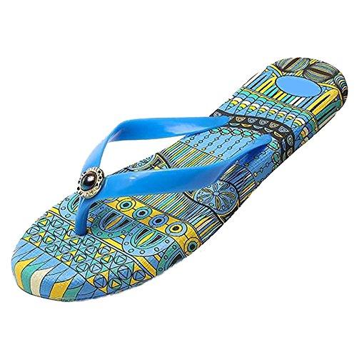 Flip Pantoffeln Damen Strings Eastlion Strand Blau Hausschuhe Flops Sandalen Schuhe Sommer qBfwSgC