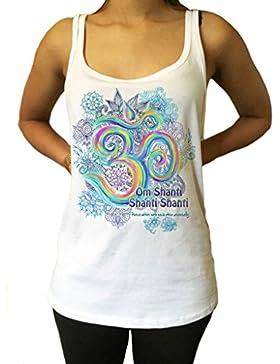 Jersey de Color Amarillo Vibrante Motivo de Vibración Meditación 'Om Shanti' de Paz Universal de Impresión Zen...