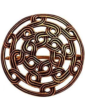 Wikinger Fibel mit Knotenmuster aus Bronze Gewandschließe Mystische Brosche Wikinger Gewandschmuck Fibel LARP