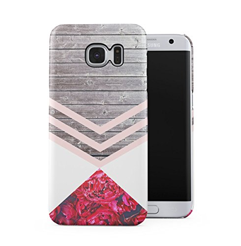 sa Chevron Wood Pattern Dünne Handy Schutzhülle Hardcase Aus Hartplastik Hülle für Samsung Galaxy S7 Edge Handyhülle Case Cover ()