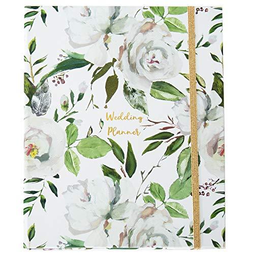 The Dream Hochzeitsplaner, Luxus-Hochzeits-Organizer-Buch mit schöner Souvenir-Geschenkbox, ideales Verlobungsgeschenk für Paare, perfekt für die Planung Ihrer Traumhochzeit Weiß & Blumen