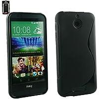 Emartbuy® HTC Desire 510 Ultra Slim Gel Hülle Schutzhülle Case Cover Schwarz