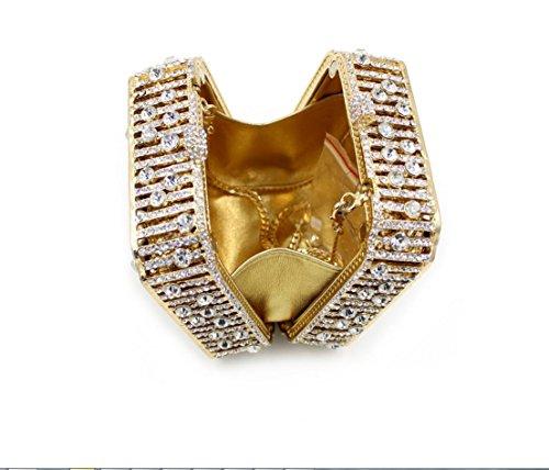 Platz-Abendessen-Paket Europa und den Vereinigten Staaten Diamant Luxus-High-End-Voll Diamantbohrlöcher Abendtasche Braut Paket Gold Gold