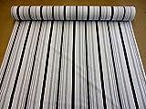 Stoff Meter Baumwolle grau Streifen überbreit gestreift