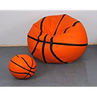 Preisvergleich für Set Puff Puf Sitzsack Hocker Sitzsack aus Kunstleder simipelle. Basketball