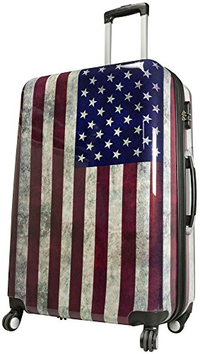 Trendyshop365 Hartschale Reisekoffer Design USA, America Bunt 77cm 94 Liter 4 Räder Zahlenschloss - Flagge Us Usa Amerikanische Flaggen