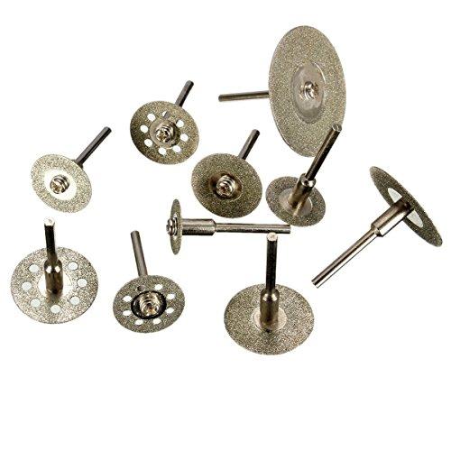 YCNK 10 PCS Kreissägeblätter dremel Diamant Lochsäge Cut Off Discs Radlager Werkzeug Set Klingen Rotary Tool Set -