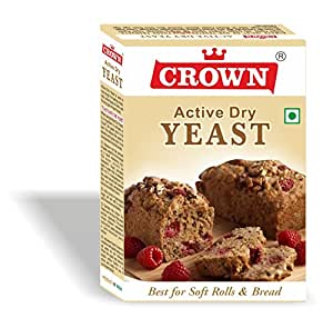 Crown Active Dry Yeast / Instant Dry Yeast 125G - (25G X Pack Of 5, Total:125G)