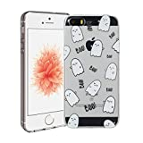 Funda iPhone 5/5S/SE Silingsan Funda de Silicona TPU para iPhone 5/5S/SE Carcasa Transparente Soft Clear Case Cover Funda Blanda Flexible Carcasa Delgado Ligero Caja Anti Rasguños Anti Choque con Diseño Creativo - Huevos Lindos