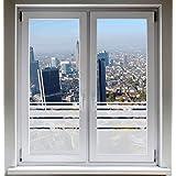 INDIGOS UG Sichtschutzfolie Glasdekorfolie Fensterfolie Dynamische Streifen satiniert blickdicht - 1000mm Breite x 500mm Höhe - auch mit Individueller Breite