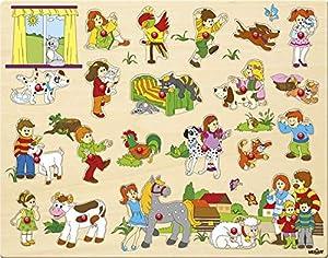 Woodyland 102191912 - Puzzle, Grande, con Asas, Multicolor