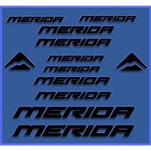 PEGATINAS STICKERS MERIDA DR1103 BIKES STICKERS AUFKLEBER DECALS AUTOCOLLANTS ADESIVI MTB BTT (NEGRO)