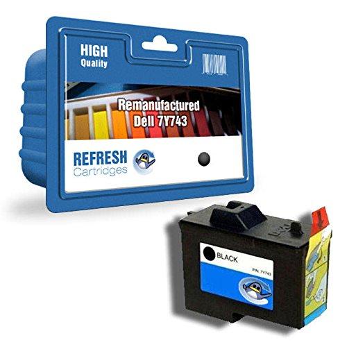 Wiederaufgefüllt Dell 7Y743/7Y745 Tintenpatronen einzeln & Multi Packungen von Erneuerung Patronen - Schwarz (Tintenpatrone 7y743)
