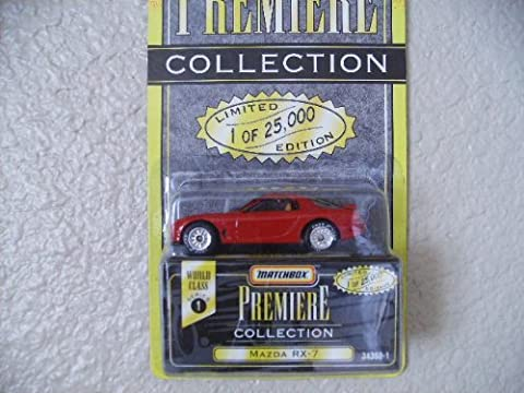 1995 - Tyco / Matchbox Premiere Collection - World Class Series 1 - Mazda RX - 7 - Red - 1 of 25,000 - Rare - Out of Production - New - Limited Edition - Collectible by Matchbox