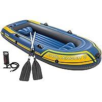 Intex 68370NP - Barca hinchable Challenger 3, con remos aluminio 295 x 137 x 43 cm
