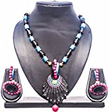 #5: Pentacrafts Terracotta Art designed Women Girl Necklace Set, Color: Multi