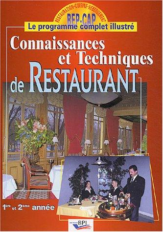 Connaissances et techniques de restaurant
