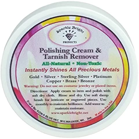 Limpiador de Joyería Completamente Natural | Crema de Pulido Removedora de Manchas Sparkle Bright Products –