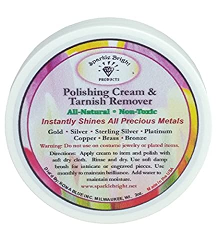 Sparkle Bright Products All-Natural Jewellery Cleaner | Tarnish Remover & Polishing Cream - 2 oz.