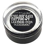 Maybelline New York Eye Studio Color Tattoo Leather 24 HR Cream Gel Eyeshadow, Dramatic Black, 0.14 Ounce by Maybelline New York
