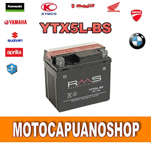 BATTERIA YTX5L-BS WR F 250 ANNO 2003 2004 2005 2006 2007 RMS