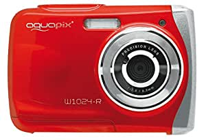 Aquapix W1024-R Splash Unterwasser Digitalkamera rot