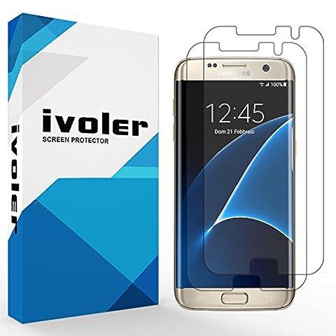 [Upgrade Version] Protection écran Galaxy S7 Edge, iVoler® [2 pièces] 3D Incurvé Couverture Complète [Liquide Installation] [Anti-rayures] [Sans bulles] TPU Film Protecteur HD Transparent Screen Protector pour Samsung Galaxy S7 Edge