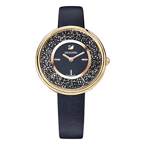 Swarovski Crystalline Pure Uhr, schwarz