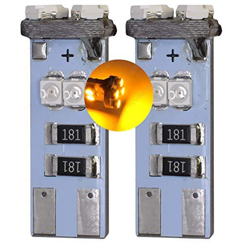MCK Auto - Remplacement pour W5W T10 T15 W16W LED CanBus Ensemble d'ampoules orange très clair et sans erreur compatible avec les K1200 K1300s