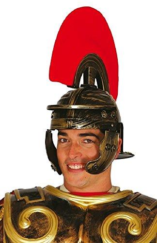 Fancy Me Erwachsene Herren Römischer Centurion Warrior Spartaner Gladiator Kostüm Kleid Outfit Hut Helm Zubehör - Braun, One size