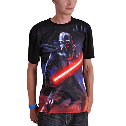Star Wars T-Shirt Darth Vader Full Size mit Ärmel Logo schwarz Mehrfarbig
