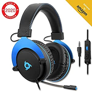 KLIM Gaming Headset – USB 7.1 Gaming Kopfhörer – Hohe Qualität mit mikrofon – Für PC Mac PS4 Laptop Games – Over Ear Gamer Headphones – Noise Cancelling Microphone [ Neue 2020 Version ]