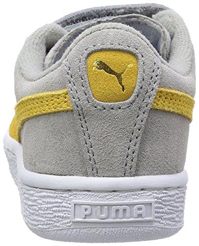 Puma T&J Tom, Baskets mode mixte enfant Gris (Limestone Grey/Snapdragon)