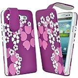Accessory Master Etui en silicone pour Samsung Galaxy S III Mini i8190 Motif Coeur fleurs Violet