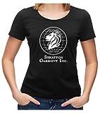 Stratton Oakmont Inc Börse Logo T-Shirt, Börsianer Investment Kult, XXL, Ladies schwarz