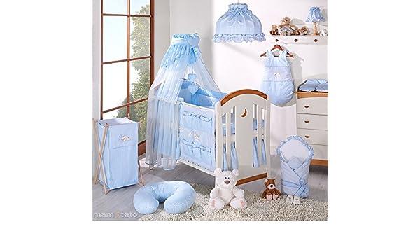 Parure de lit 14 pi/èces bleu b/éb/é linge de lit gigoteuse nid dange tour de lit 60x120cm