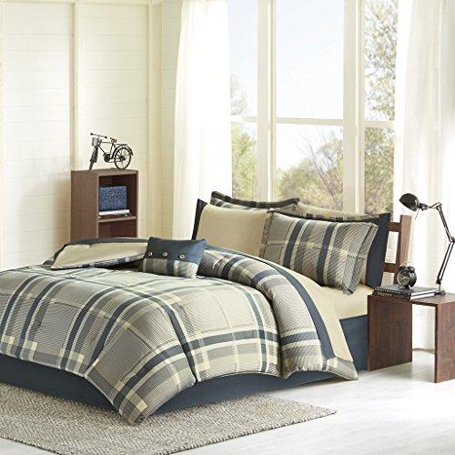 Robbie Tröster und Betttuch Set, Polyester, Navy Multi, Volle Größe