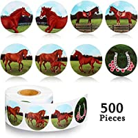 500 Pieces Horse Stickers Horse Roll Stickers Envelopes Wall Stickers for DIY Crafts Game Prizes Novelty Toys Party Favors, 8 Styles