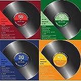 40 x Einladungskarten zum Geburtstag als Schallplatte CD Kassette 4 Farben zur Auswahl