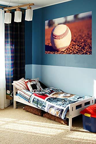 Fototapete selbstklebend Baseball - Vintage - 230x150 cm - Wandtapete - Poster - Dekoration - Wandbild - Wandposter - Bild - Wandbilder - Wanddeko