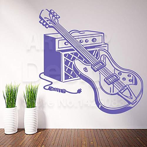 YuanMinglu Vinyl Haus Dekoration billige Gitarre Set wandaufkleber familienzimmer Farbe Dekoration Musik ausrüstung Applique lila 28 cm x 28 cm -