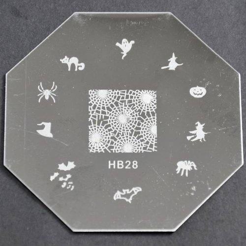 Nail Art emboutissage des tôles - HB28 CODE : HB28-plaque